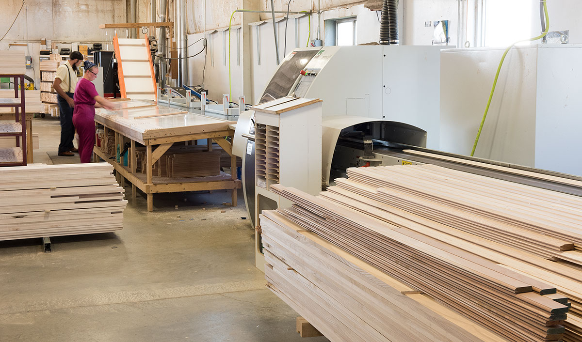 Four Woods Laminating Quality Control Area