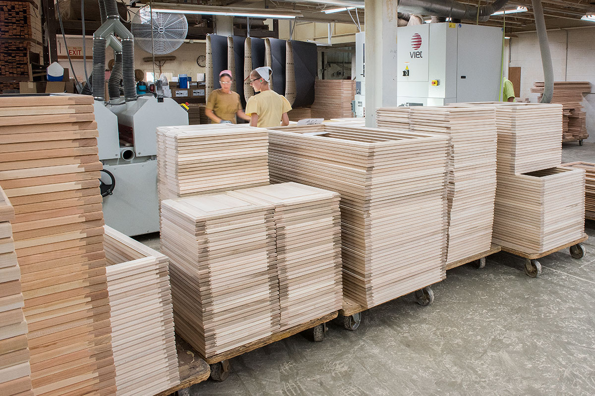 Four Woods Laminating Unfinished RV Doors Stacked